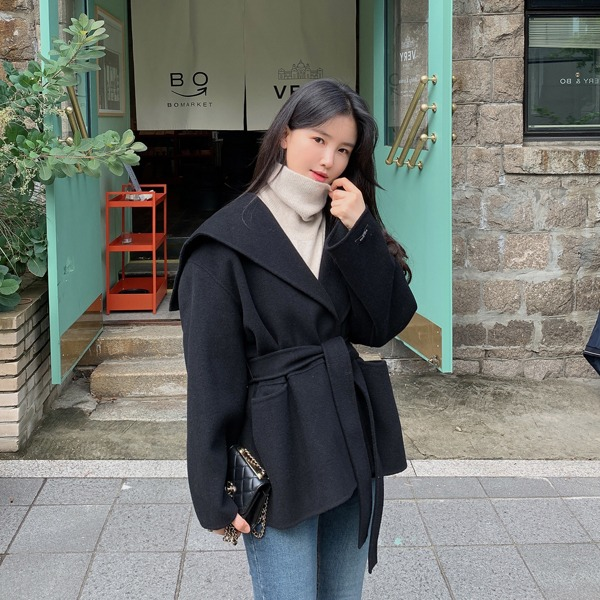 benito-[made] #단 3일간! Pre-order #4만원할인 Be Label Premium 젠느 핸드메이드 숄카라 하프 코트신상/숄카라/하프/숄카라코트/하프코트/겨울/베스트/여성/데일리♡韓國女裝外套
