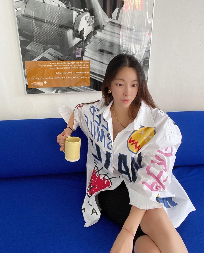 myclassy-custom painted shirt♡韓國女裝上衣