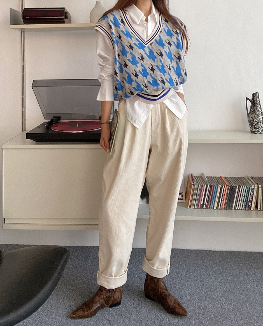 myclassy-Vince corduroy Pants *[beige]♡韓國女裝褲