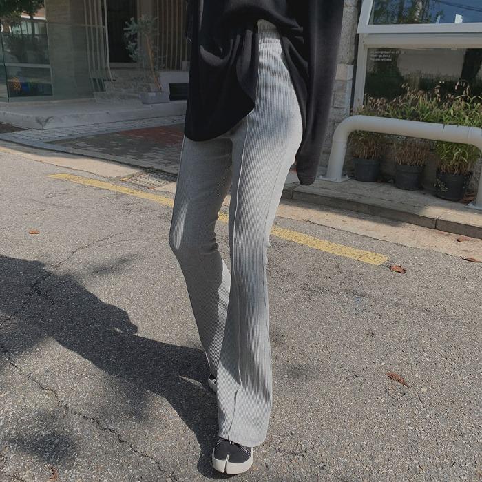 theresheis-더로즈 골지 부츠컷 팬츠♡韓國女裝褲