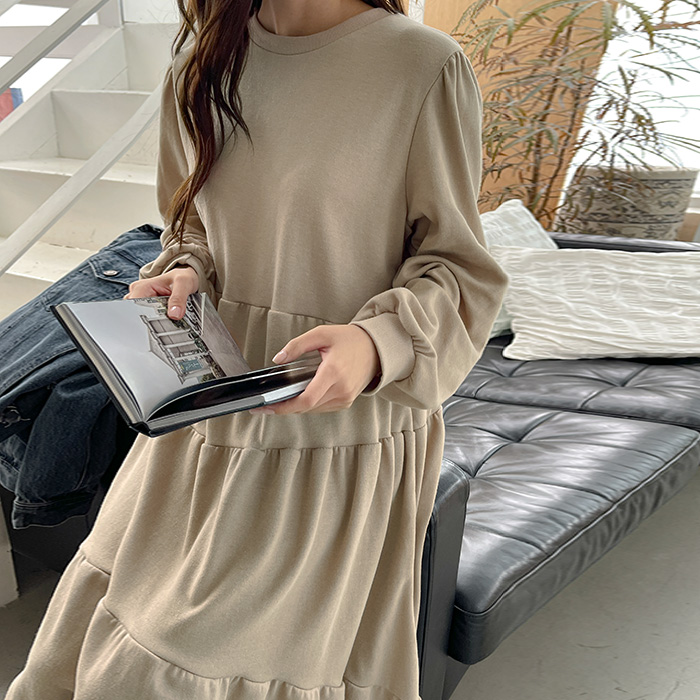 09women-[라티안 셔링 롱 원피스 61885]♡韓國女裝連身裙