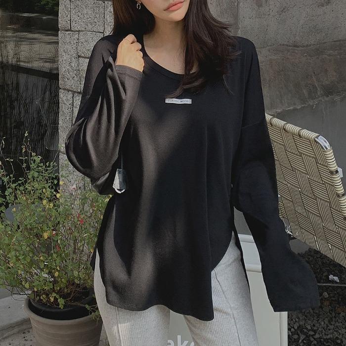 theresheis-카즈니 트임 티셔츠♡韓國女裝上衣