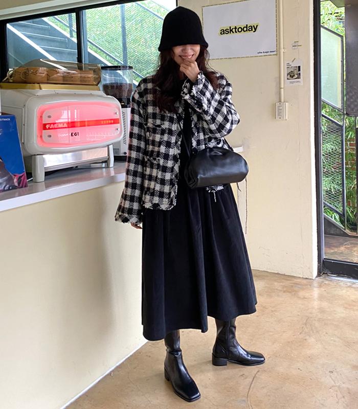 sibuya-[오버 시크 트위드 jk]♡韓國女裝外套
