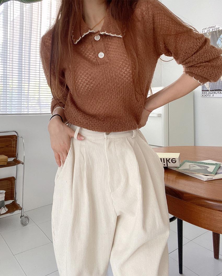 myclassy-mock lace knit♡韓國女裝上衣
