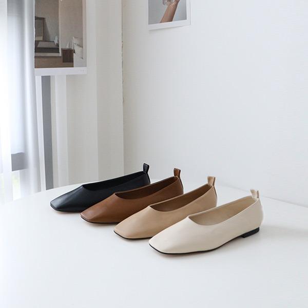 benito-벨리온 사선 스퀘어 플랫 1.5cm 신상/베스트/플랫/여성플랫/간절기/가을플랫/기본/슈즈/여성/데일리♡韓國女裝鞋