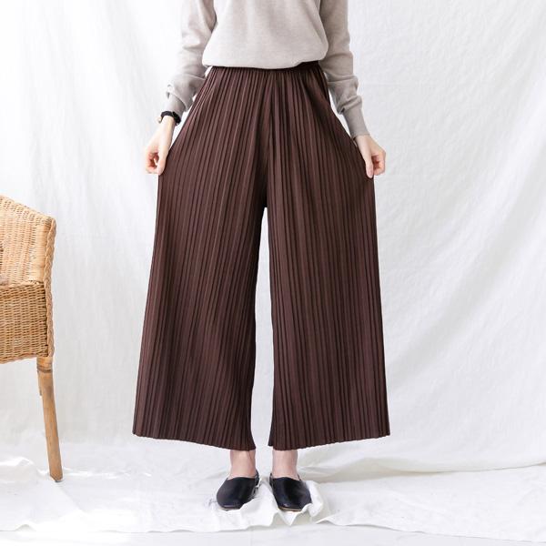 misscandy-[no.21118 허리밴딩 와이드핏 플리츠팬츠]♡韓國女裝褲