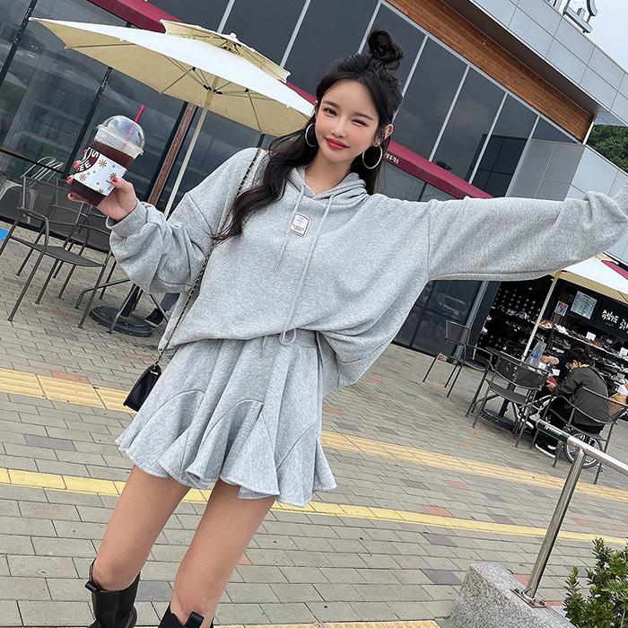 choper-허니플레어후드세트♡韓國女裝套裝
