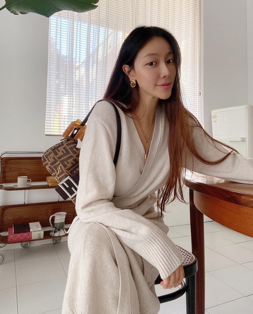 myclassy-Evian cardigan knit dress♡韓國女裝外套
