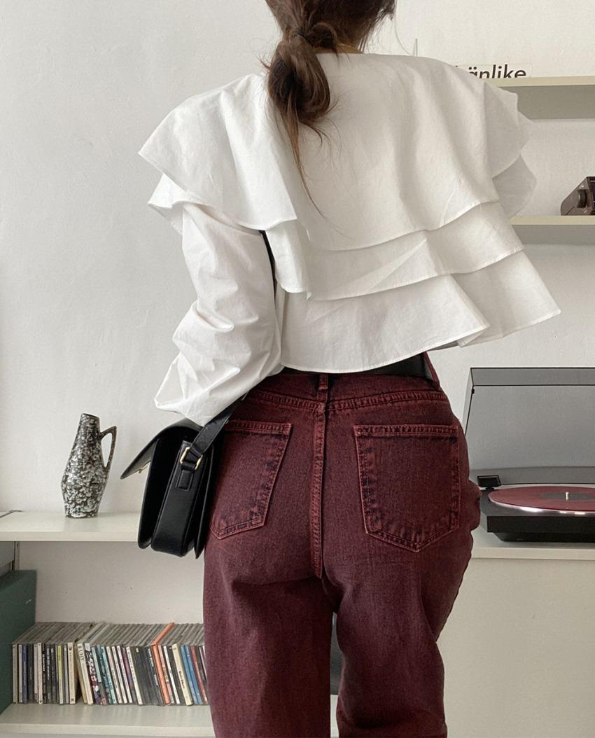 myclassy-Josephine frill blouse♡韓國女裝上衣